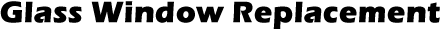 Glass Window Replacement Logo